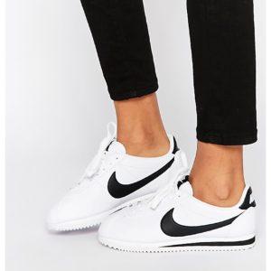 Comprar Zapatillas de deporte blancas con acabado en cuero Cortez de Nike