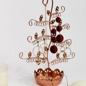 Comprar Perchero para bisutería con diseño floral en cobre de Sass & Belle