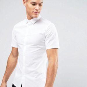 Comprar Camisa Oxford ajustada de vestir en blanco de ASOS