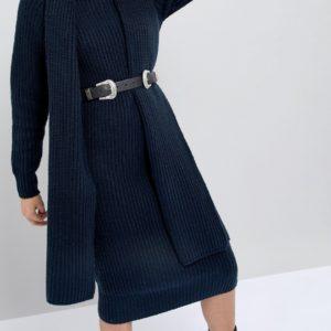 Comprar Cinturón con riñonera y doble hebilla estilo oeste de cuero de ASOS