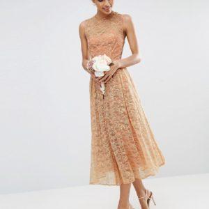 Comprar Vestido de graduación de encaje para dama de honor de ASOS DESIGN