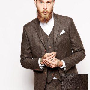 Comprar Chaqueta de traje de espiga de corte slim de ASOS