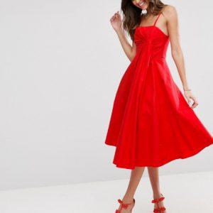 Comprar Vestido de graduación a media pierna con detalle plegado y acabado en tejido de primera calidad de ASOS