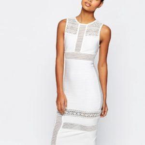Comprar Vestido de tubo de encaje con bandas Mix & Match SCULPT Premium de ASOS