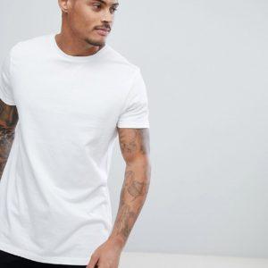 Comprar Camiseta larga blanca con cuello redondo de ASOS DESIGN