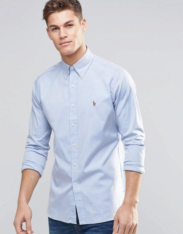 Comprar Camisa Oxford de corte estándar en azul de Polo Ralph Lauren