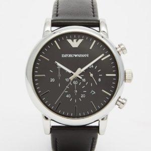 Comprar Reloj con correa de cuero y cronómetro AR1828 de Emporio Armani