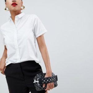 Comprar Camisa de corte cuadrado y manga corta de ASOS DESIGN
