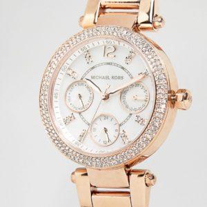 Comprar Reloj con cronómetro en oro rosa Parker MK5616 de Michael Kors