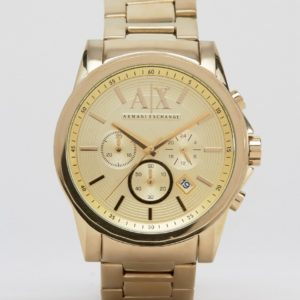 Comprar Reloj de pulsera de acero inoxidable dorado con cronómetro AX2099 de Armani Exchange