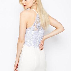 Comprar Vestido de tubo con cuello halter y corpiño de encaje de Paper Dolls Petite