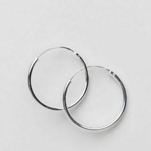 Comprar Pendientes de aro de 20 mm en plata de ley de ASOS DESIGN