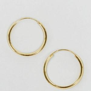 Comprar Pendientes de aro de 20 mm de plata de ley chapada en oro de ASOS DESIGN