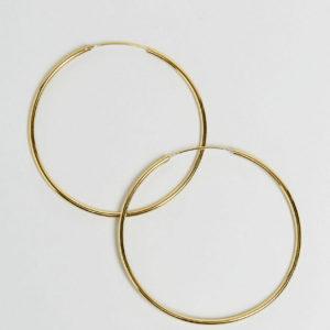 Comprar Pendientes de aro de 60 mm de plata de ley chapada en oro de ASOS DESIGN