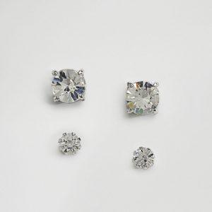 Comprar Pack de pendientes de botón con cristal de ASOS DESIGN