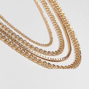 Comprar Pack de cadenas doradas de ASOS DESIGN