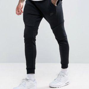 Comprar Joggers técnicos de polar de corte slim en negro 805162-010 de Nike