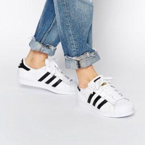 Comprar Zapatillas de deporte en blanco y negro Superstar de adidas Originals
