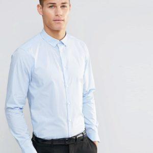 Comprar Camisa de corte estándar en azul claro de ASOS