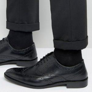 Comprar Zapatos Oxford de negro cuero de ASOS