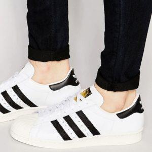 Comprar Zapatillas de deporte en blanco con diseño estilo años 80 Superstar G61070 de adidas Originals