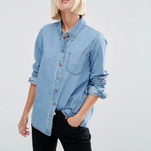 Comprar Camisa vaquera con lavado claro Cali de ASOS DESIGN