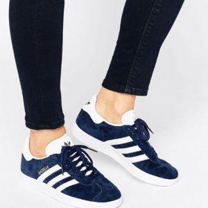 Comprar Zapatillas de deporte de ante azul marino Gazelle de adidas Originals