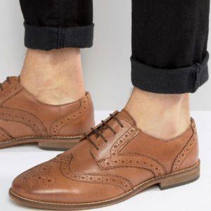 Comprar Zapatos Oxford de cuero en tostado de ASOS