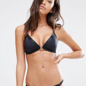 Comprar Top de bikini con borde festoneado de River Island