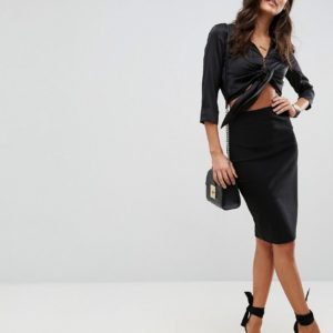 Comprar Falda de tubo con cintura alta de ASOS DESIGN