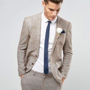 Comprar Chaqueta de traje muy ajustada en punto de nepi de ASOS Wedding