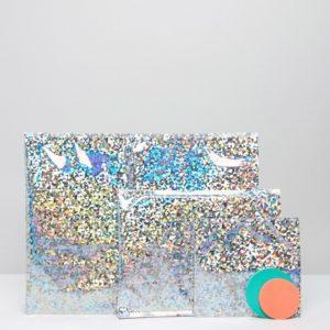 Comprar Sobres de navidad metalizados en plateado brillante de Meri Meri