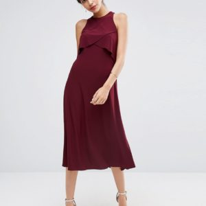 Comprar Vestido de doble capa a media pierna de ASOS WEDDING