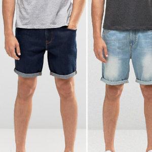 Comprar Pack ahorro de 2 shorts vaqueros de corte slim de ASOS