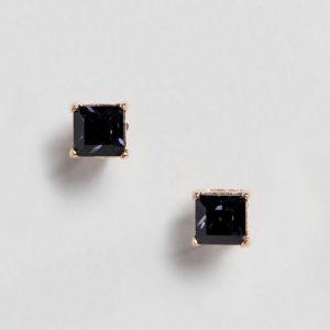 Comprar Pendientes de botón cuadrados con diseño de hematita y cristales Swarovski exclusivos de Simon Carter