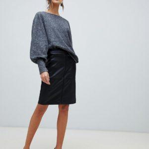 Comprar Falda de tubo de cuero sintético de Vila