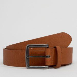 Comprar Cinturón ancho de cuero sintético tostado de ASOS DESIGN