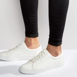 Comprar Zapatillas de deporte en material vegano en blanco de ASOS DESIGN