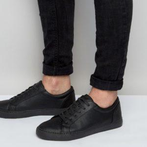 Comprar Zapatillas de deporte en material vegano en negro de ASOS DESIGN
