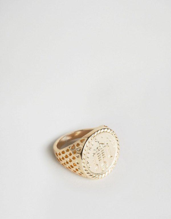 Comprar Anillo dorado Old English Sovereign de Chained & Able