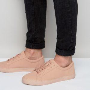 Comprar Zapatillas de deporte en material vegano en rosa de ASOS DESIGN