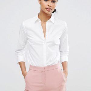 Comprar Camisa de manga 3/4 de algodón elástico de ASOS DESIGN