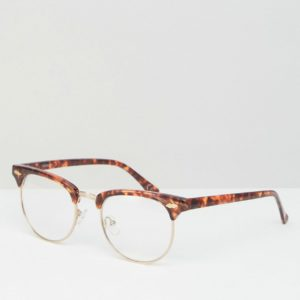 Comprar Gafas transparentes de estilo retro con montura de carey de ASOS DESIGN