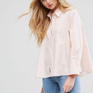 Comprar Camisa extragrande de algodón con aberturas a los lados de ASOS