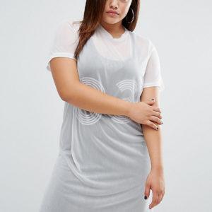 Comprar Vestido de estilo universitario con capa superior de malla de One One Three