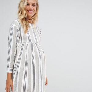 Comprar Minivestido amplio con rayas en natural de ASOS Maternity