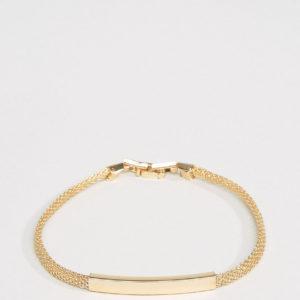 Comprar Pulsera de cadena con placa identificativa en dorado exclusiva en ASOS de DesignB