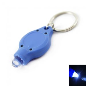 1 LED bombilla grande llavero linterna antorcha azul