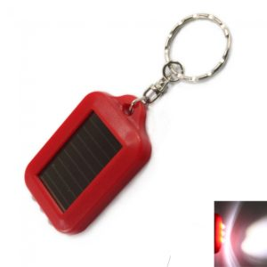 3 LED Mini Energ¨ªa Solar recargable linterna antorcha llavero rojo