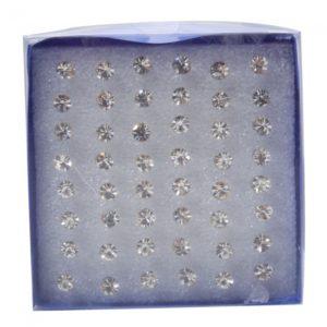 48Pcs Pendientes diamante negro